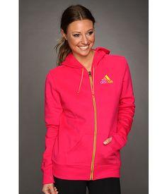 adidas You're the One Full-Zip Fleece Hoodie Dark Grey Heather/Lab Pink