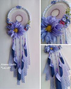 """Купить Ловец снов """"Lilac"""" - красивый ловец снов, необычный ловец снов, цветы"""