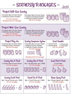 Combine and save!!  You can find them at https://christyhalseth.scentsy.us/  Who doesn't love a great deal!!