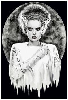Monsters Bride Art Print by Artist Shayne of the Dead
