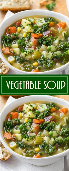 Vegetable Soup - Soups From Scratch - Detox Homemade Vegetable Soups, Vegetable Soup With Chicken, Homemade Soup, Chicken And Vegetables, Vegetable Noodle Soup, Veggies, Vegetable Soup Recipes, Vegetarian Recipes, Cooking Recipes