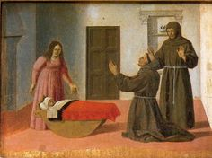 St. Anthony Resurrects a Child   Piero della Francesca Italian 1416-1492 Early Renaissance 1460 oil on canvas    National Gallery of Umbria, Perugia, Italy