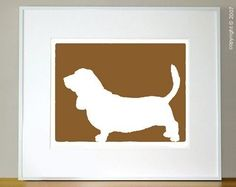 Mod Bassett Hound. Currently hanging in my living room.
