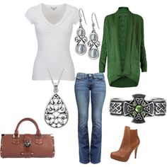 All of it...perfect outfit for a St Patrick's date...