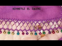 Boncuk oyası - YouTube Bargello, Textiles, Make It Yourself, Sewing, Crochet, Jewelry, Youtube, Knitting Patterns, Knitting And Crocheting