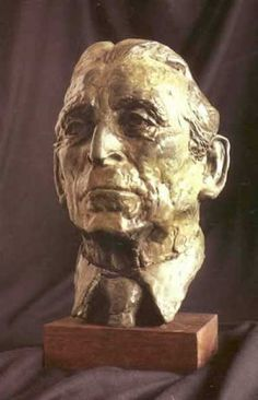 Bronze Portrait Sculptures / Commission or Bespoke or Customised sculpture by artist Luke Shepherd titled: 'The Rt Hon the Viscount Tonypandy (bronze Commission Bust statues)' Bronze Sculpture, Sculpture Art, Sculptures, Sculpture Portrait, Viscount, Art Of Man, Best Portraits, Male Man, Sculpting