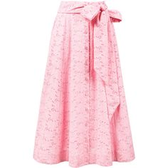Lisa Marie Fernandez eyelet beach skirt (980 NZD) ❤ liked on Polyvore featuring skirts, pink, beach skirt, cotton skirts, lisa marie fernandez, eyelet skirt and cotton knee length skirt