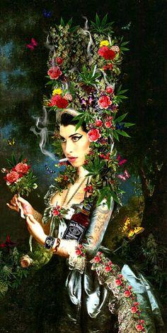 Amy con peineta.