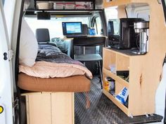 Tiny transit interior space. Well laid out.
