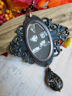 A Witches' Tea Party Medallion Necklace with by SihayaDesigns