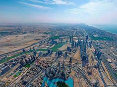 View from the Burj Khalifa Building, Dubai