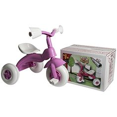 BRIO TODDLER 3 WHEEL 2 POSITION ADJUSTABLE SEAT PINK RIDE ON PEDAL TRIKE - GIRL: Amazon.co.uk: Toys & Games