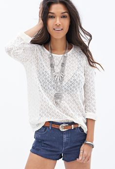 Forever 21 Open-Knit Top on shopstyle.com.au