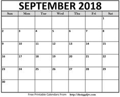 Free Printable Calendar Templates PDF Word Excel - Printable Calendar 2020 with Holidays - Printable Calendar Blank Templates, Editable Calendar & Holidays September Calendar Printable, Free Printable Calendar Templates, 2018 Printable Calendar, Excel Calendar, Blank Calendar Template, Printables, Pdf, Timeline, Cover