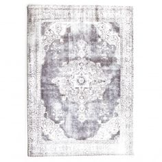 This rug by Collective Home Store has a lustrous appearance. It is not only stunning but has a high level stain Grey Rugs, Trendy Colors, Power Loom, Vintage Prints, Color Patterns, Rug Size, Architecture, Floral, Inspiration