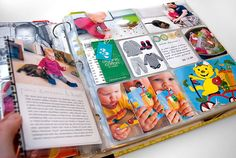 Great project life album - use the baseball card sheet protectors for photos/memorabilia/notes, etc.