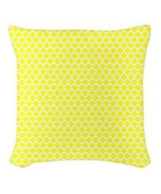 Love this Yellow Quatrefoil Burlap Pillow on #zulily! #zulilyfinds