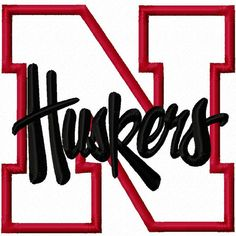 Nebraska Huskers N Applique Machine Embroidery by BubbaDubDesigns, $5.00