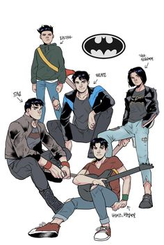 Cute Batman, Batman Comic Art, Funny Batman, Robin Dc, Batman Robin, Tim Drake, Damian Wayne, Nightwing, Batgirl