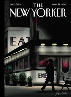"""The New Yorker - Monday, March 2010 - Issue # 4349 - Vol. 86 - N° 5 - Cover """"Evening Walk"""" by Jorge Colombo The New Yorker, New Yorker Covers, Capas New Yorker, Free Magazine Subscriptions, Magazin Covers, Fiction, Thing 1, Expositions, Walking By"""