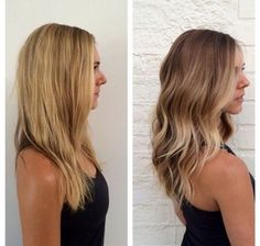 Before and after ombre by stylist Chevelle Joseph. Contact her at 240-229-8596 for pricing & appts | Yelp