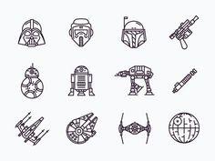 Star Wars Icons tatuajes | Spanish tatuajes |tatuajes para mujeres | tatuajes para hombres | diseños de tatuajes http://amzn.to/28PQlav