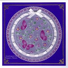 Design by Linda Williams Handcrated by Margaret Atkinson Parchment Design, Parchment Cards, Card Patterns, Hobbies And Crafts, Handmade Crafts, Painted Rocks, Art Nouveau, Christmas Cards, Projects To Try