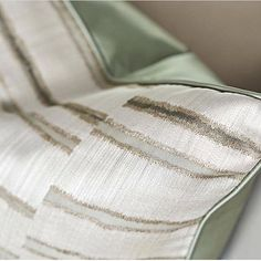 Frost Beam, our sheer embroidered organza teamed with a soft green satin looks so elegant as a cushion. Residential Interior Design, Contemporary Interior, Luxury Interior, Interior Styling, Interior Decorating, Pillow Fabric, Pillows, Luxury Cushions, World Of Interiors