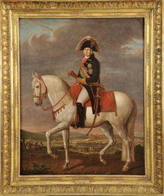 """Autor: NICOLAS DELERIVE - 1755-1818 Designação: """"Retrato equestre de D. João VI"""""""