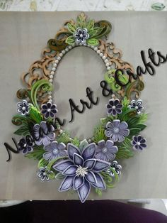 *QUILLING ~ It is so sad that the artists choose to stamp over the middle of a picture, it distracts and covers the quality!