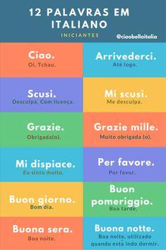 12 Palavras em Italiano - Iniciante @blogciaobellait #palavrasemitaliano #travel #viagem #dicasitalia #ciaobellaitalia #italiano