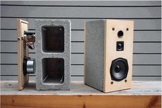 Cinder speakers turn concrete blocks into high fidelity