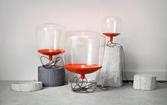 Balloons collection by Lucie Koldova and Dan Yeffet for Brokis table lamp floor lamp Cool Lighting, Lighting Design, Lighting Ideas, Floating In Space, Best Interior Design, Lamp Design, Light Table, Pendant Lamp, Pendant Lights