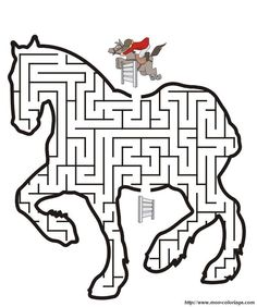 Horse printables include horse coloring pages, a word search puzzle, dot-to-dot puzzle, maze, and a preschool traceable page. Horse Coloring Pages, Colouring Pages, Coloring Books, Horse Party, Cowgirl Party, Printable Mazes, Free Printable, Printable Coloring, Horse Birthday Parties