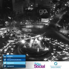 """I called this shot """"Go, Mexico"""" it was taken from my room. It was my first time visiting, and I was enthralled by the controlled chaos of the traffic that spun around Diana's statue. The blur of the lights  captures the never ending flow of cars. By Jeremy M."""