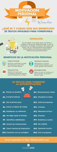 Foto: ¡Nuevo artículo en el blog! 20 Trucos y 15 frases de Motivación Personal http://xn--diseocreativo-lkb.com/trucos-y-frases-de-motivacion-personal/