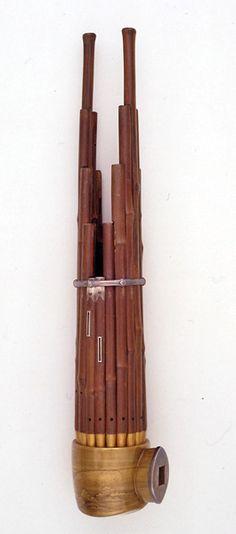 笙 銘「山端」元享元年(1321) 紀州藩徳川治宝の古楽器コレクション