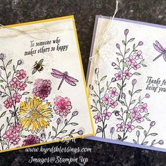 The card on the right is a CASE from Sheran Rigg (so beautiful, THANK YOU!!!) which inspired me to create the one on the left and I'm thinking of doing 2 more to make a set! Used Touches of Texture and Avant Garden #stampinup #stampinupdemo #avantgarden #touchesoftexture #cardmaking #diycard #papercrafting #stamping