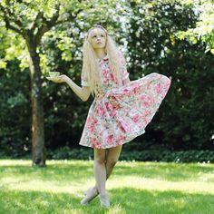 Its a modern Alice. Shop this look on Kaleidoscope (dress)  http://kalei.do/X0mjQCztrbZwS6mp