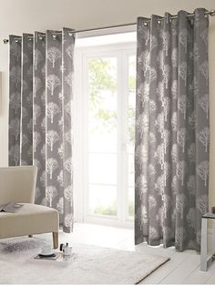 Trees Woodland Tree Forest Eyelet Ring Top Ready Made Curtains Or Cushion Cover in Home, Furniture & DIY, Curtains & Blinds, Curtains & Pelmets Green Curtains, Curtain Fabric, Tree Curtains, Lined Curtains, Home Decor, Duck Egg Curtains, Charcoal Curtains, Ready Made Eyelet Curtains, Curtains With Rings
