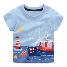87e96c7f11fc Boys Tops Summer 2018 Brand Children T shirts Boys Clothes Kids Tee Shirt  Fille 100% Cotton Character Print Baby Boy Clothing