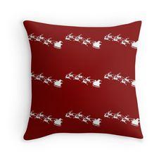 Santa On Sleigh Pulled by Reindeer