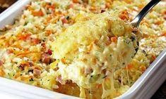 Ингредиенты: 4 чашки из вареного риса 100 гр тертой моцареллы 100 гр ветчины, порезанной мелкими кубиками 1 морковь, тертая ...