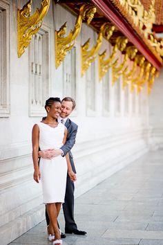 Beautiful interracial couple engagement photography in Bangkok, Thailand #love #wmbw #bwwm
