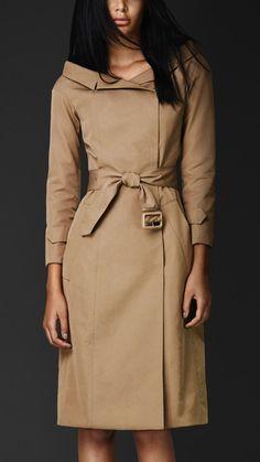 Portrait Neckline Trench Coat | Burberry | designer style