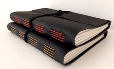 Recycled Leather Journal  Ecofriendly Leather by peonyandthistle, £35.00