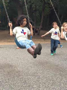 Cute Texas themed designs from Kandle Kidswear. This photo was taken during our recent video production session with them at Windmill Run Park in Austin.