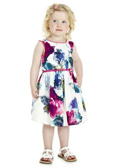 Clothing online at Tesco | F Watercolour Floral Dress with Belt - Online Exclusive - AVAILABLE NOW!
