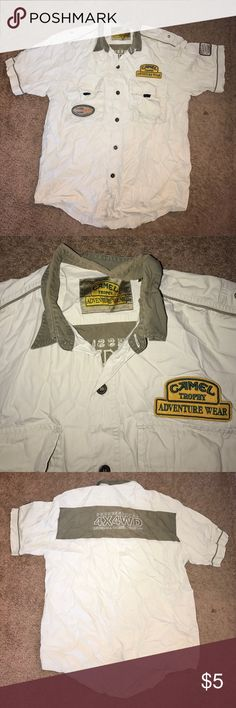 mens polo shirt preloved camel trophy adventure wear Shirts
