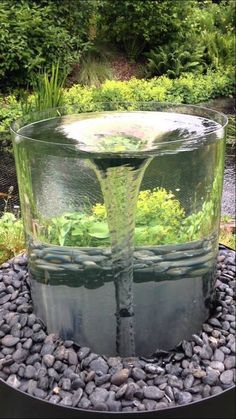 Most stunning and unique water features ideas backyard water feature, watch video, water features Backyard Water Fountains, Backyard Water Feature, Garden Fountains, Ponds Backyard, Backyard Landscaping, Outdoor Fountains, Modern Water Feature, Fountain Garden, Backyard Waterfalls